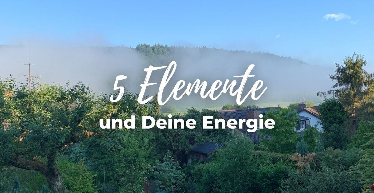Katharina Holch - Blog - 5 Elemente