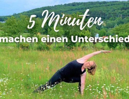 5 Minuten machen einen Unterschied